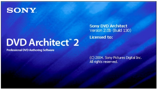 Sony DVD Architect 2.0의 모습