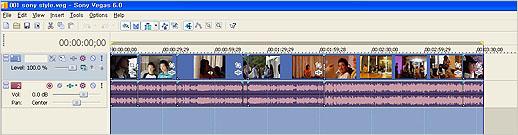인터넷용으로 만들 동영상 영역을 설정한 모습