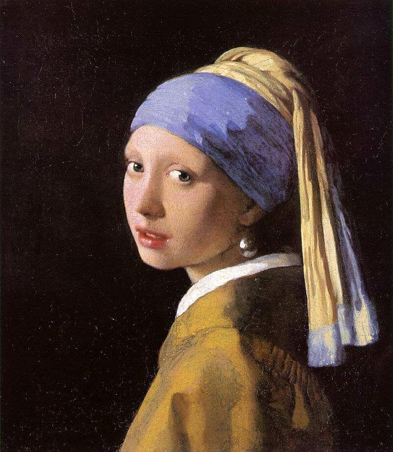 Vermeer girl writing a letter