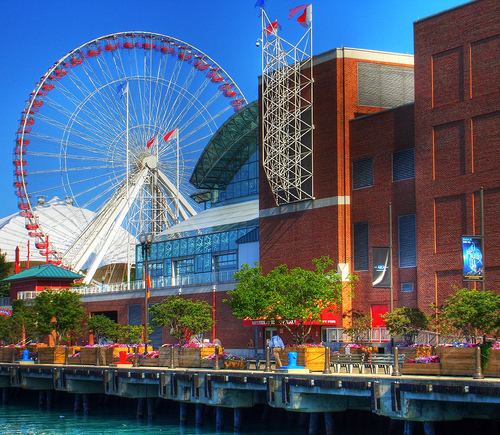 The Navy Pier, Lake Michigan (HDR)