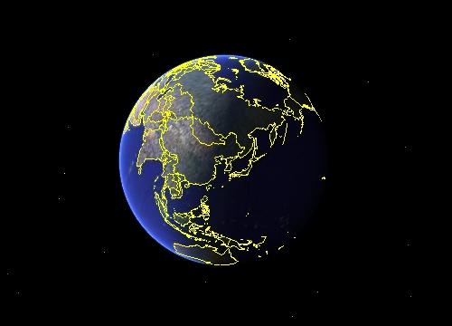 구글어스(Google Earth)의 지구 모습