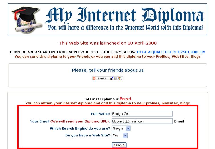 My Internet Diploma