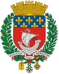 'Fluctuat nec mergitur' under coat of arms, city of Paris