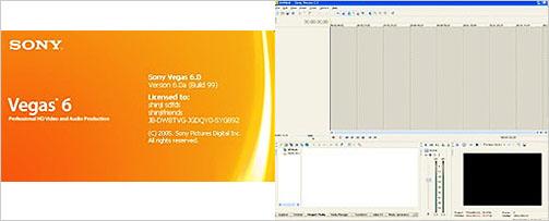 Sony Vegas6의 실행 초기화면 / Sony Vegas6의 실행화면