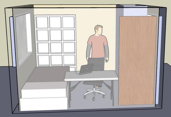 구글 스케치업 - 내 방 2