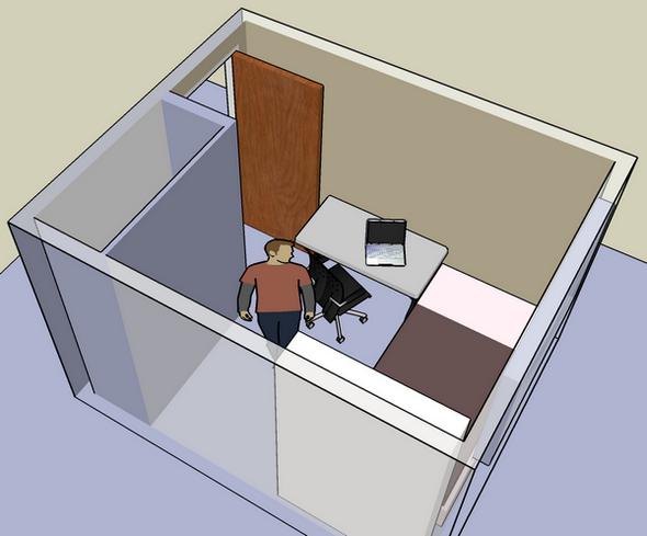 구글 스케치업 - 내 방 1