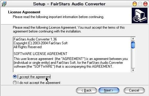 fairstars audio converter 1.55 serial number