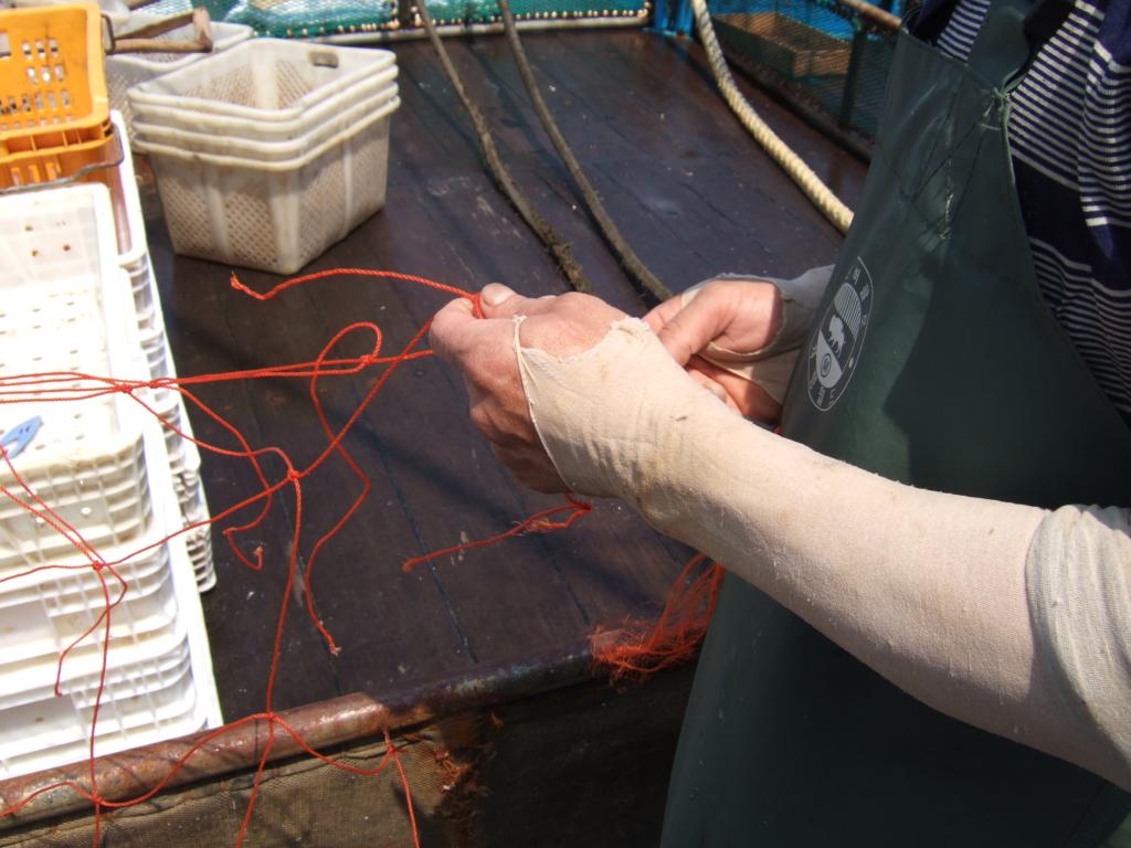 안강망 어장보수 작업