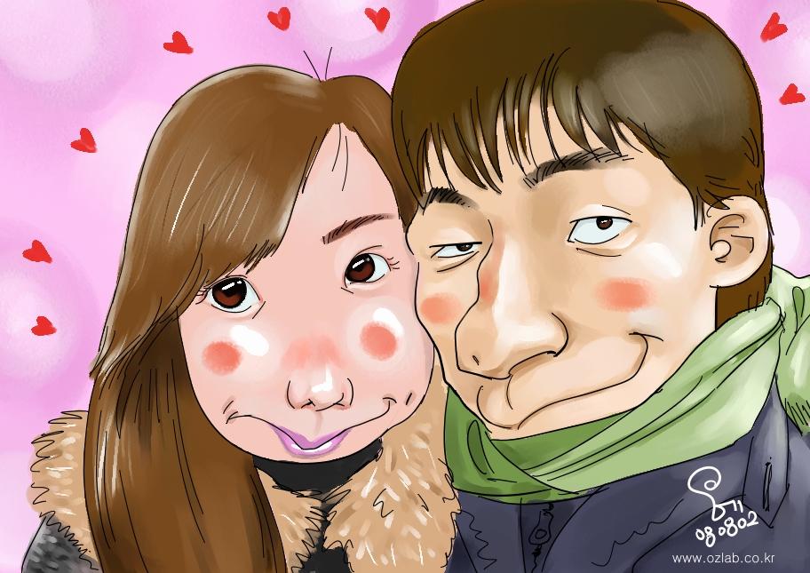 조재연님과 곧 결혼하실 일본 신부님 캐리커쳐~