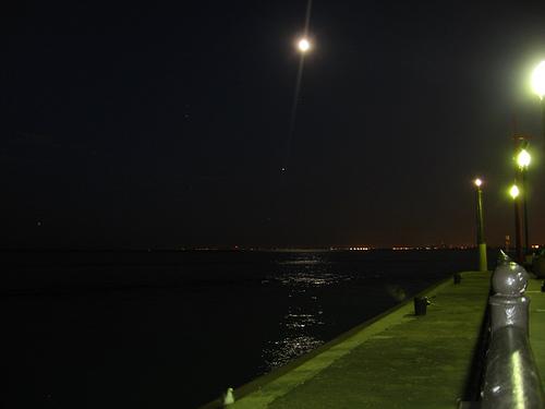 Navy Pier의 밤