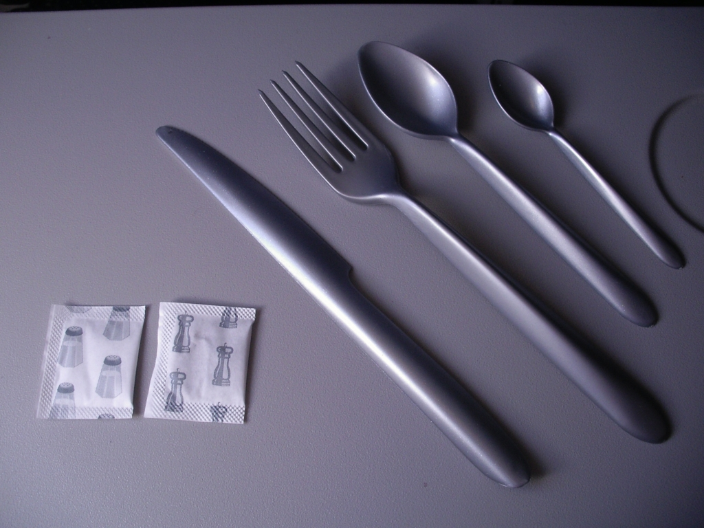 Plastic Silverware of Air France (upper side)