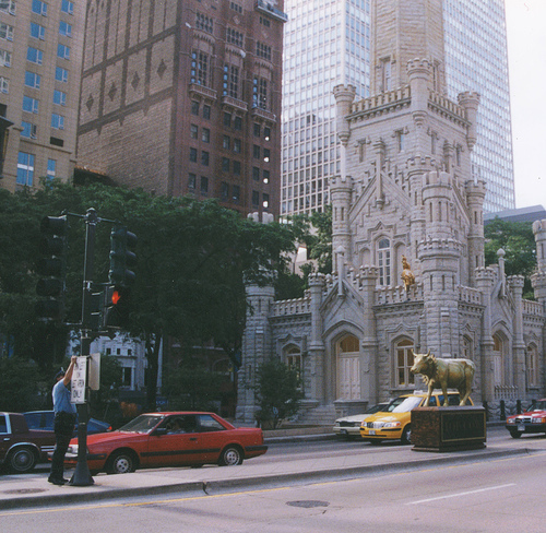 The Chicago Water Tower on Michigan Avenue
