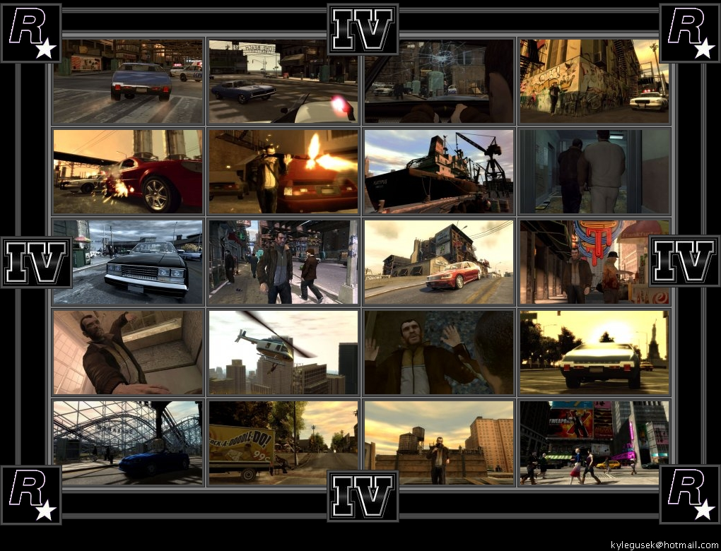 GTA4 Screenshots - a collage