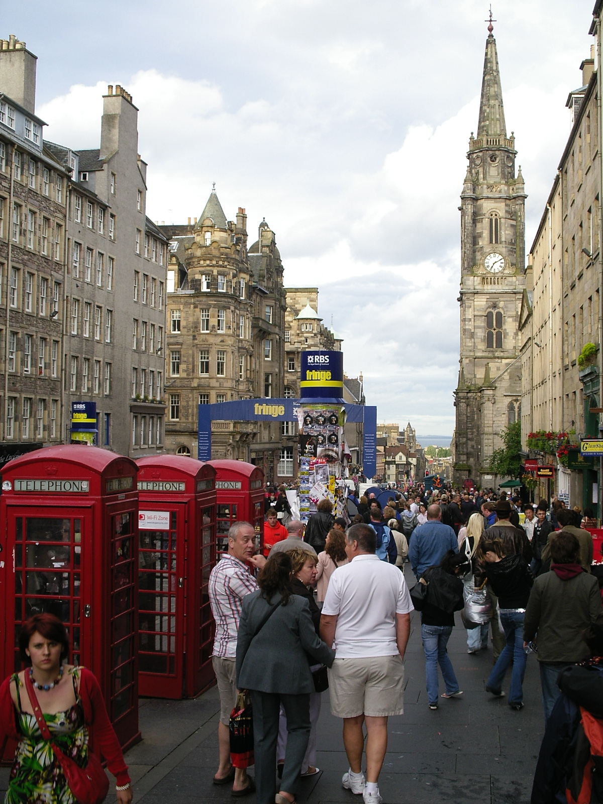 Scenary of Royal Mile, Edinburgh