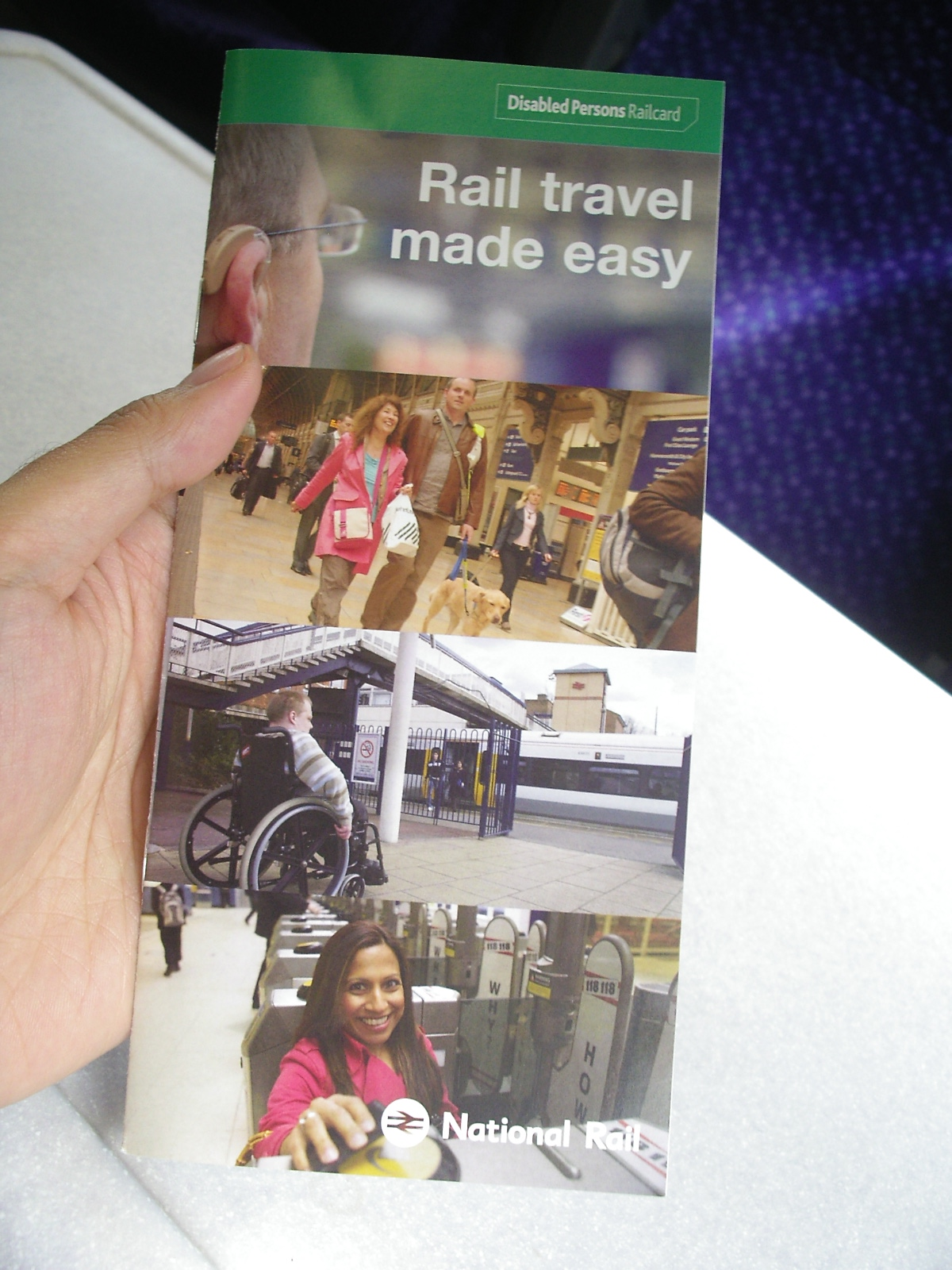 <Disabled Persons Railcard> flyer by UK National Rail
