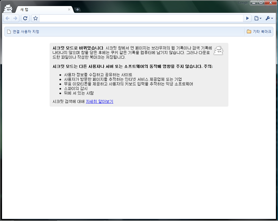 Screenshot of Google Chrome - Secret Mode