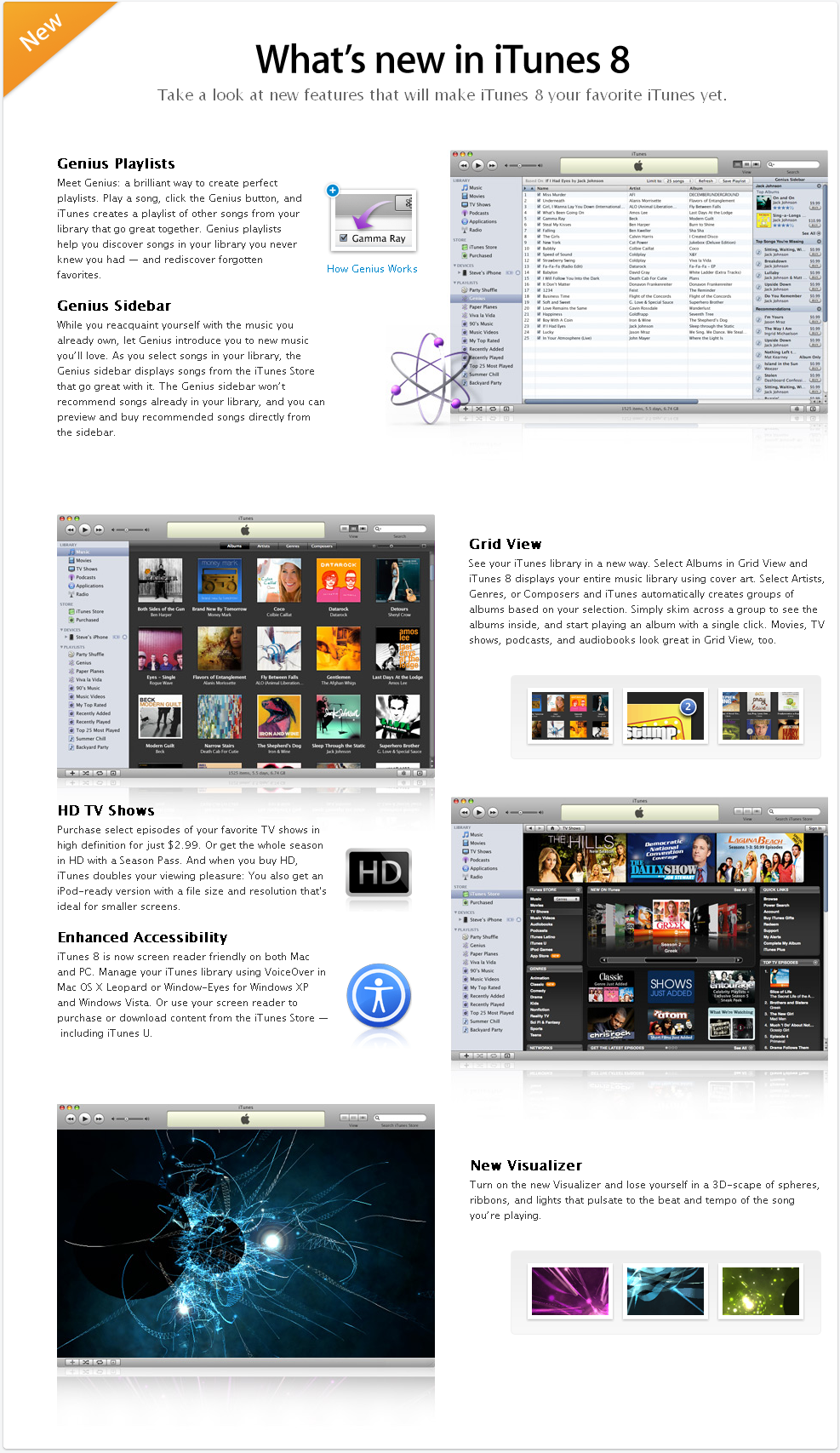 Website on the New Features of iTunes 8