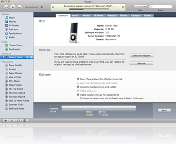 Spoken Menu - New Feature on iTunes 8 and iPod nano