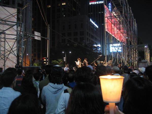 청계천 촛불집회