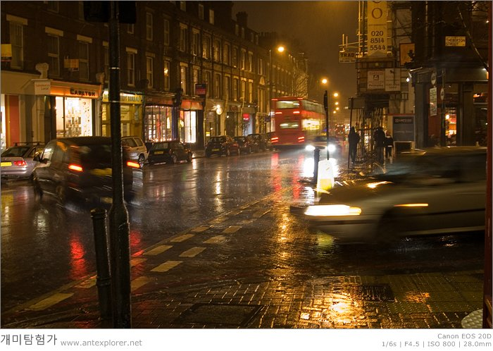 London, Rainy Night